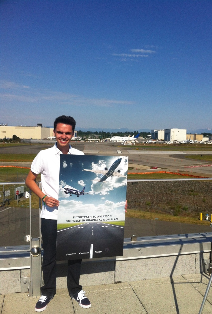 Guilherme was able to see many parts of Boeing's operations during his Academic Training.